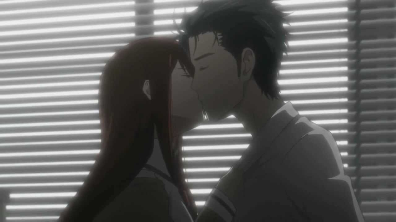 Image result for okabe and kurisu kiss