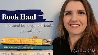 October 2018 Book Haul UK ¦ Personal Development Self Help ¦ Booktube