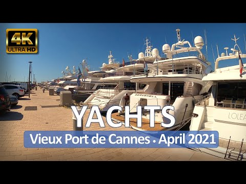 Cannes, France • 4K Walk • Vieux Port de Cannes • April 1, 2021 • Virtual Tour