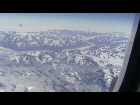 Beautiful Greenland and Iceland seen from Airbus A330-300 (Full HD)