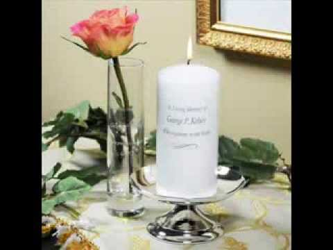 Wedding Memorial Candles Frames And Vases Youtube