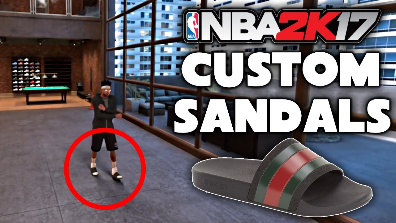 17e177a4e883 HOW TO MAKE SANDALS IN 2K17! GUCCI FLIP FLOPS CUSTOM SHOES! - YouTube