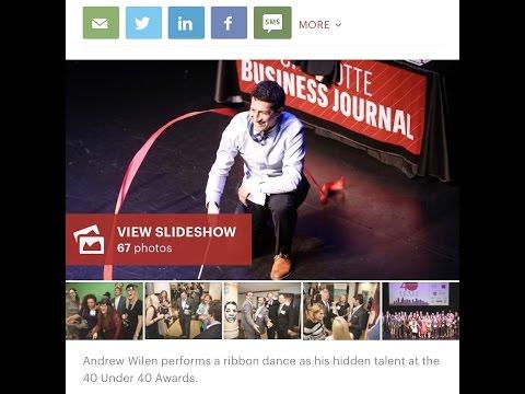 Charlotte Business Journal Forty Under 40 Ribbon Dance - Andrew Wilen
