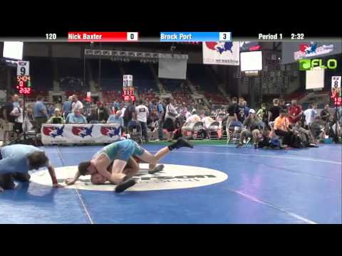 Cadet 120 - Nick Baxter (Missouri) vs. Brock Port (Pennsylvania)