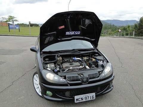 peugeot 206 1.4 turbo @0.6bar - youtube