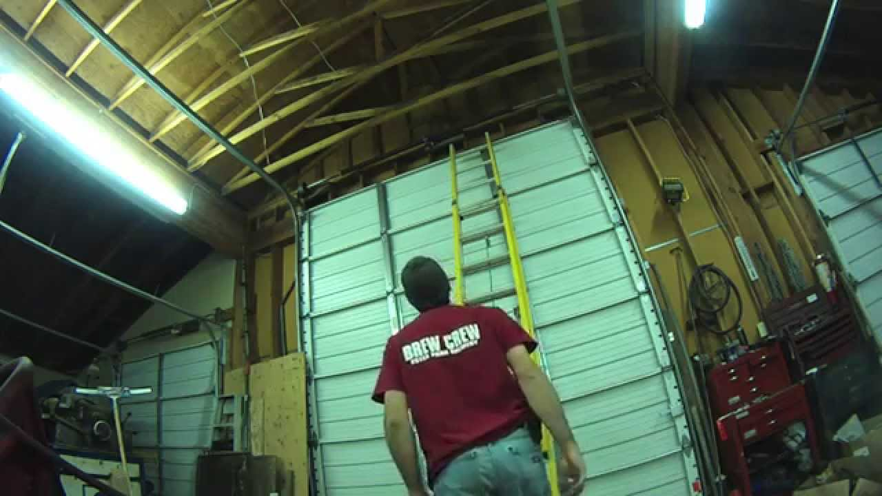 Overhead garage door repair youtube