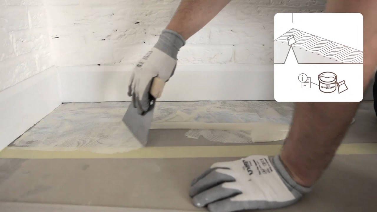 een vinylvloer plaatsen gelijmde plaatsing door quick step youtube