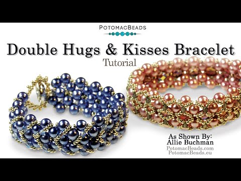 Pdf beaded bracelet tutorial hugs and kisses | meylah.