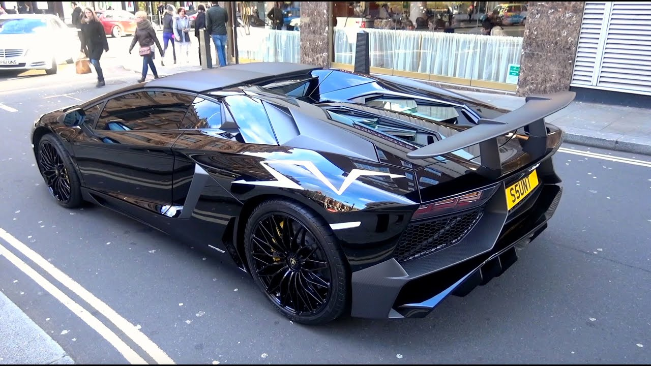 first lamborghini aventador sv roadster in london start ups sounds driving youtube. Black Bedroom Furniture Sets. Home Design Ideas