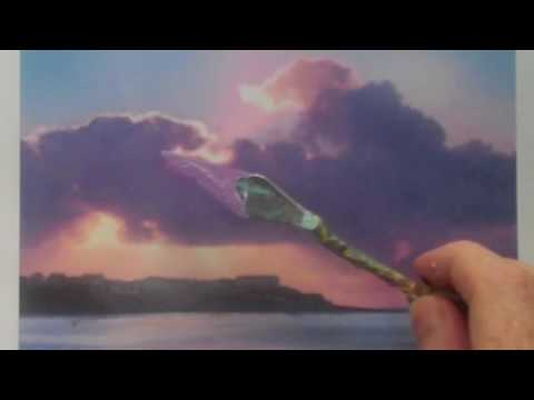 How to colour match an acrylic landscape painting – mixing paint colour