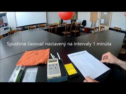Virtuálny experiment - meranie aktivity produktov premeny radónu vo vzduchu