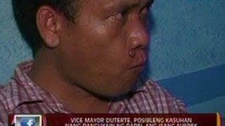 24 Oras: Vice Mayor Duterte, posibleng kasuhan nang panguyain ng papel ang isang suspek