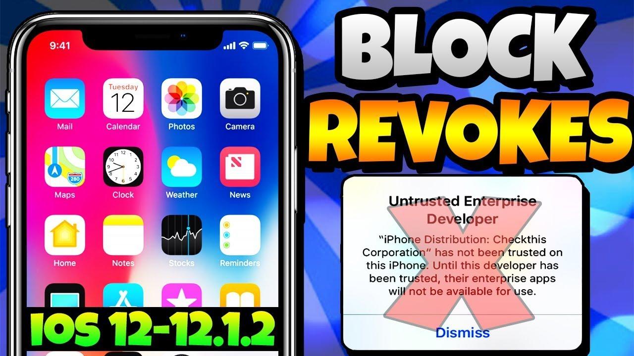 *NEW* STOP Apps Getting Revoked / Crashing iOS 12 - 12 1 2 NO Jailbreak  iPhone iPad iPod [2019]