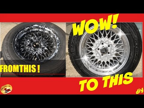 How to Make Your Old WHEELS/RIMS LOOK NEW AGAIN. DIY Anyone Can DO!
