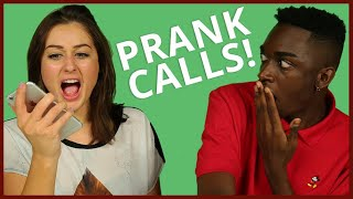 PRANK CALLING AWESOMENESSTV! w/ Rickey Thompson & Ebony Day