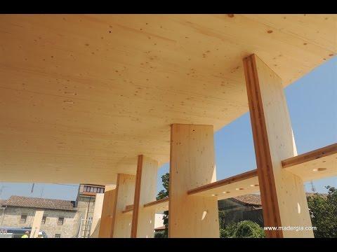 Construcción con Panel de Madera Contralaminada CLT