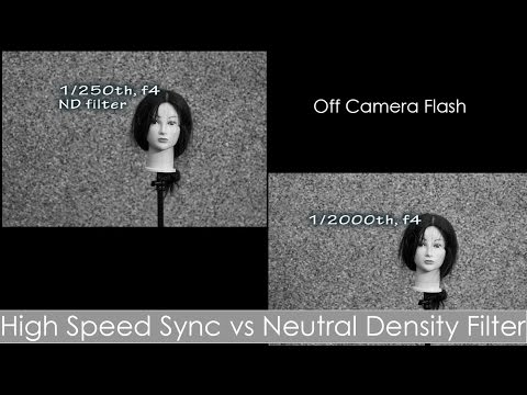 High Speed Sync (HSS) vs ND filter - off camera flash