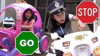 Pretend Play Police on Stop and Go Traffic Sign