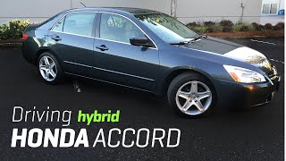 Driving 2005 Honda Accord Hybrid V6 POV