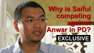 Why is Saiful competing against Anwar in PD?