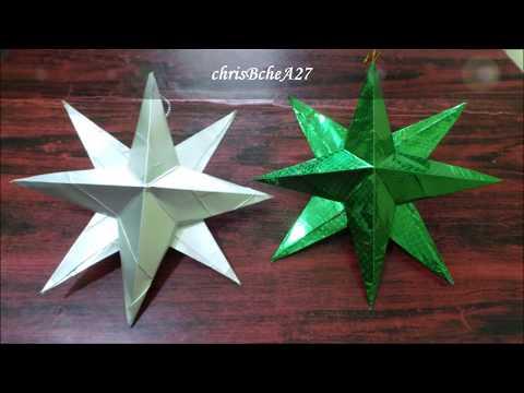DIY#95 3D Star/Christmas Ornament/Lantern /Parol Using Recycled Materials