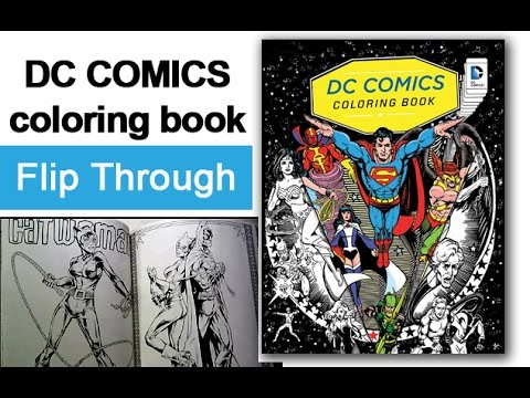 Dc Comics Coloring Book Flip Through - YouTube