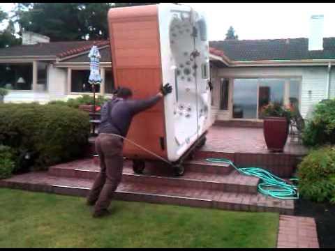 black pine spas regular hot tub delivery part 2 youtube. Black Bedroom Furniture Sets. Home Design Ideas