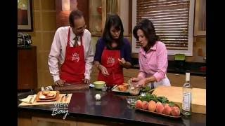 "Peach Recipe - Italian Chef Deborah Dal Fovo ""summer Sunset Peaches With Amaretti Filling"""