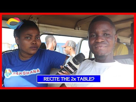 Recite the 2 Times Table | Street Quiz | Funny Videos | Funny African Videos | African Comedy