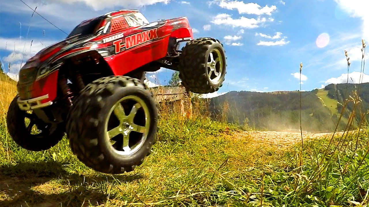 voiture rc monster truck traxxas t maxx 3 3 youtube. Black Bedroom Furniture Sets. Home Design Ideas