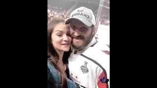 Alexander Ovechkin and wife Anastasia Shubskaya moments from 2018