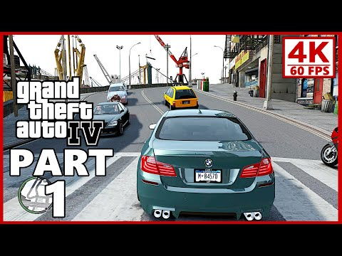 Grand Theft Auto 4 4K Gameplay Walkthrough Part 1 - GTA 4 (4K 60fps)