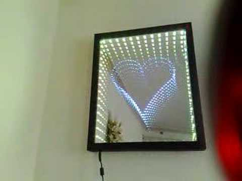 Heart Infinity Mirror Www Infinitymirrorart Com Youtube