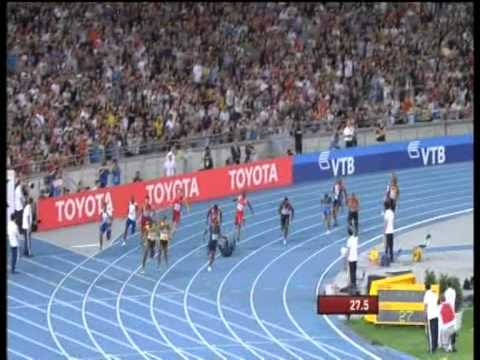 4 x 100m Relay world record  37.04s + Michael Johnson reaction