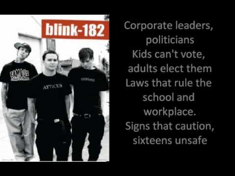Blink 182 Anthem Part 2 with lyrics