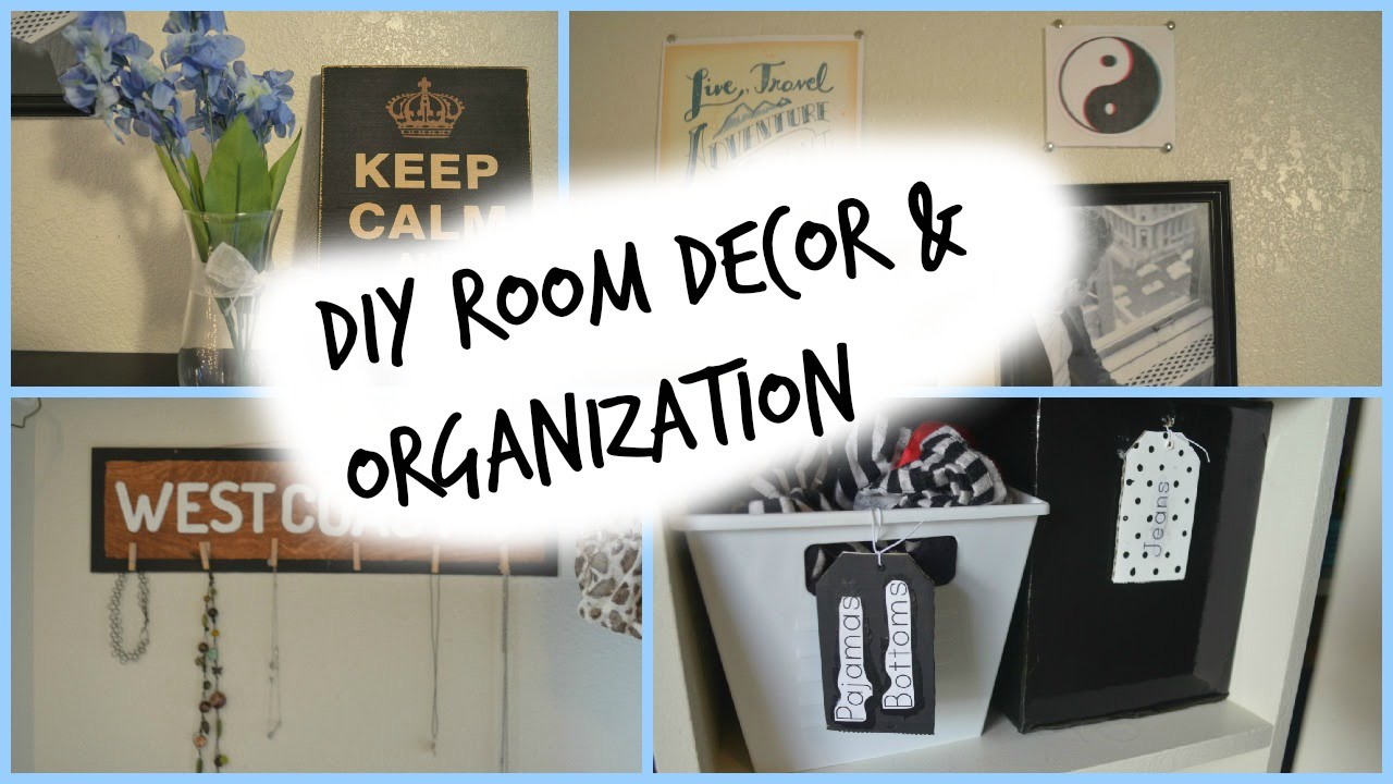 Diy room decor organization ideas youtube for Room decor organization