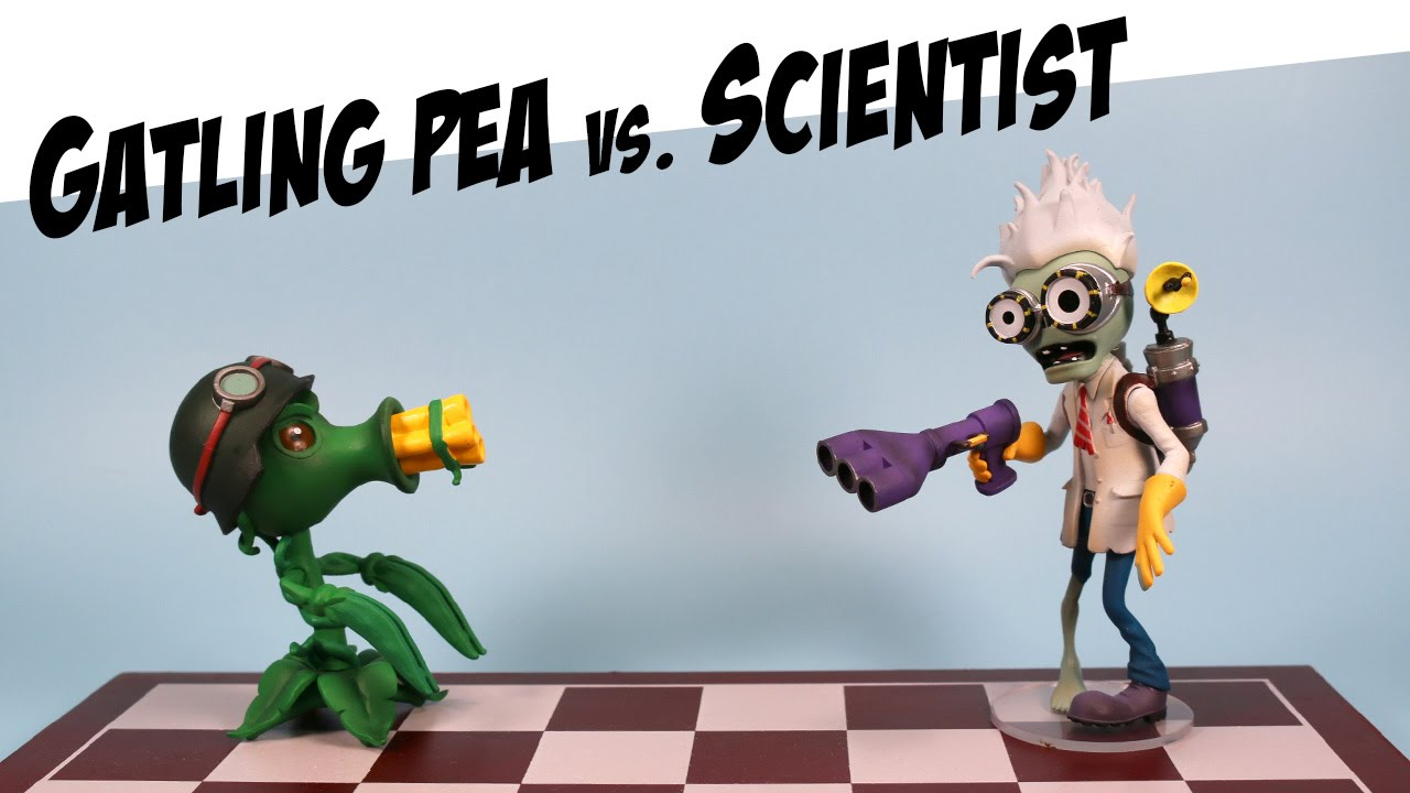 Plants Vs Zombies Garden Warfare Gatling Pea Vs Scientist