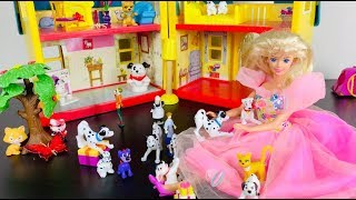 Barbie and Dalmatians Disney Toys Play Christmas Story 4K HD Kids Animation Movies