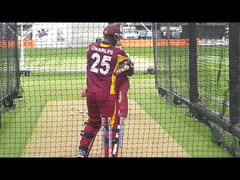 Johnson Charles in Lords nets