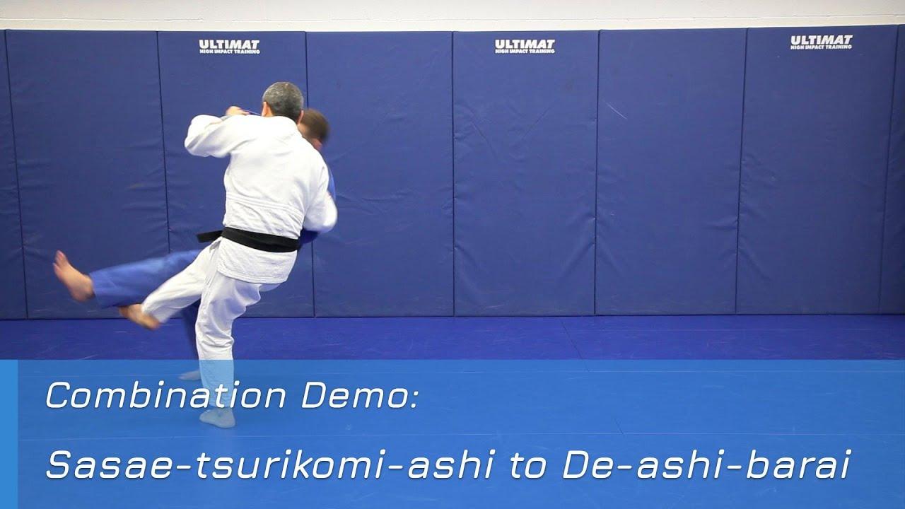 Sasae-tsurikomi-ashi to De-ashi-barai - Combination demo
