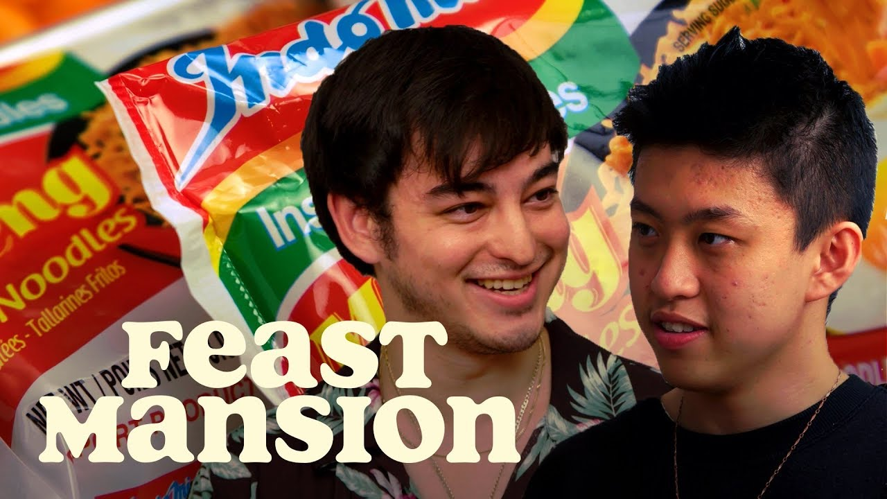 Joji and Rich Brian Have an Instant Noodle Battle | Feast Mansion