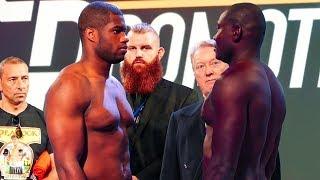 DYNAMITE Daniel Dubois vs Ebenezer Tetteh FULL WEIGH-IN | Frank Warren boxing