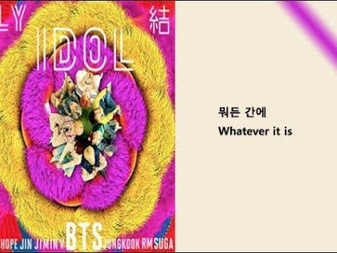 BTS - IDOL Lyrics Video For Korean Learners