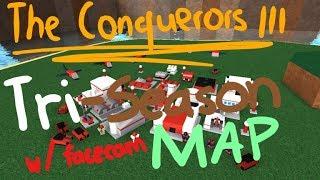 ROBLOX The Conquerors 3 Conquest Gameplay - NOUVEAU Tri-Season Map W/ FACECAM