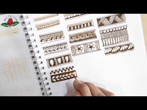 Embellishment 25 : Simple border elements for intricate mehendi design