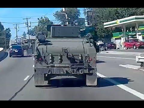 Army Military Hummers & Vehicle Convoy Activity from NY to NJ via GWB