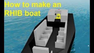 Roblox plane crazy RHIB boat tutorial