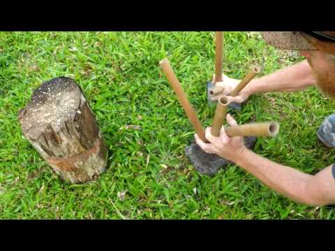 Primitive Musical Instrument: Bamboo Pipe Drum
