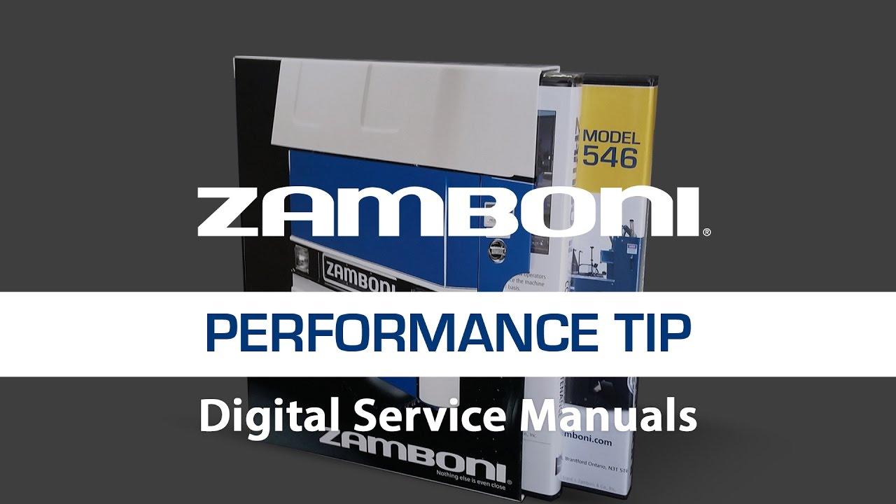 zamboni operating manual