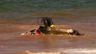 Boating Launch Disaster - Boat Capsized and 4wd almost dragged in